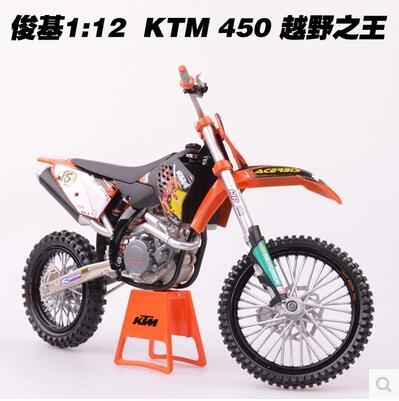 hot sale KTM 450  series 1:12 TB Motorcycle Model kids toy collection boy Mountain Bike Motocross original King's Cross Country