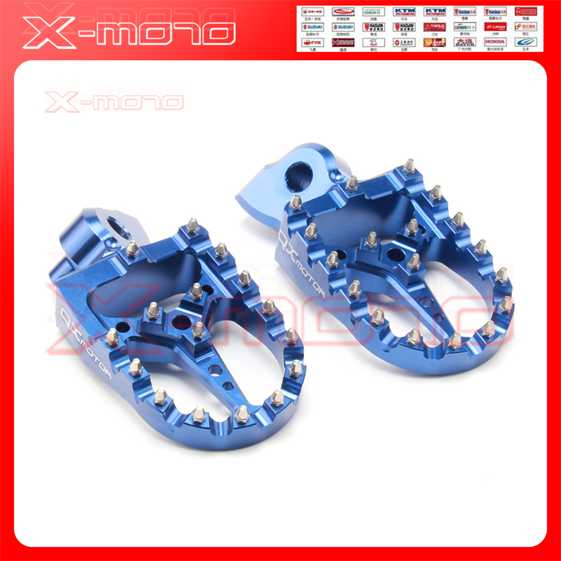 CNC Billet MX Foot Pegs Rests Pedals Footpegs For YAMAHA yz 125 250 yz125 yz85 yz450f wr450f wr250f 99-17 dirt bike billet foot pegs rests pedals for yz 85 125 250 yz250f yz426f yz450f yz125x yz250x yz250fx yz450fx wr250f wr400f wr426f wr450f