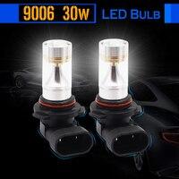 2 Pieces 9006 HB4 30W Auto LED Bulb Lamp 700LM White 6000K Car Fog Light Daytime