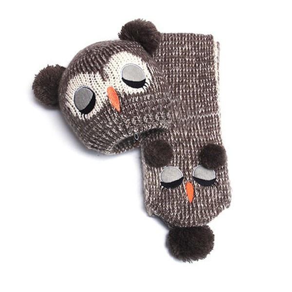 Ganchillo bebé sombrero 2018 invierno búho del bebé sombreros y ...