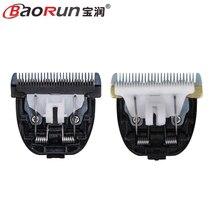 Hoja clipper mascota dog hair trimmer hoja original de cerámica titanium cuchilla para baorun p2 p3 p5 p6 p7 s1