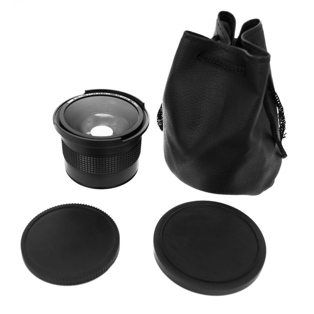 0.35x 58mm 52mm Multi-coated lens Super Fisheye Wide Angle Lens For Canon zomei 62 mm 0 45x wide angle filter lens multi coated agc optical glass mc af wide converter for digital slr camera lens