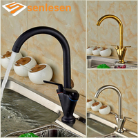 Wholesale And Retail Promotion Modern Nickel Brushed Swivel Spout Kitchen Faucet Dual Handles Vessel Sink Mixer