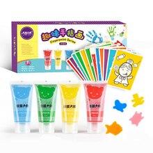 4 цвета, детская игрушка с граффити, блестящая краска с отпечатком пальца, детская моющаяся Нетоксичная игрушка для рисования, набор