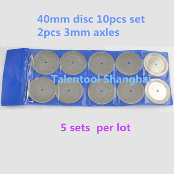 10Pc 40mm Hot Sale New Sharp Diamond Cut Off Rotary Tool Cutting Disc Disks DIY Tools Accessories For Dremel with 2Pcs rod