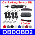 High Quality Car Parking Sensor System Auto Backup Radar Kit LED Display Double CPU 8 Colors 4 Sensors Reverse Monitor Detector