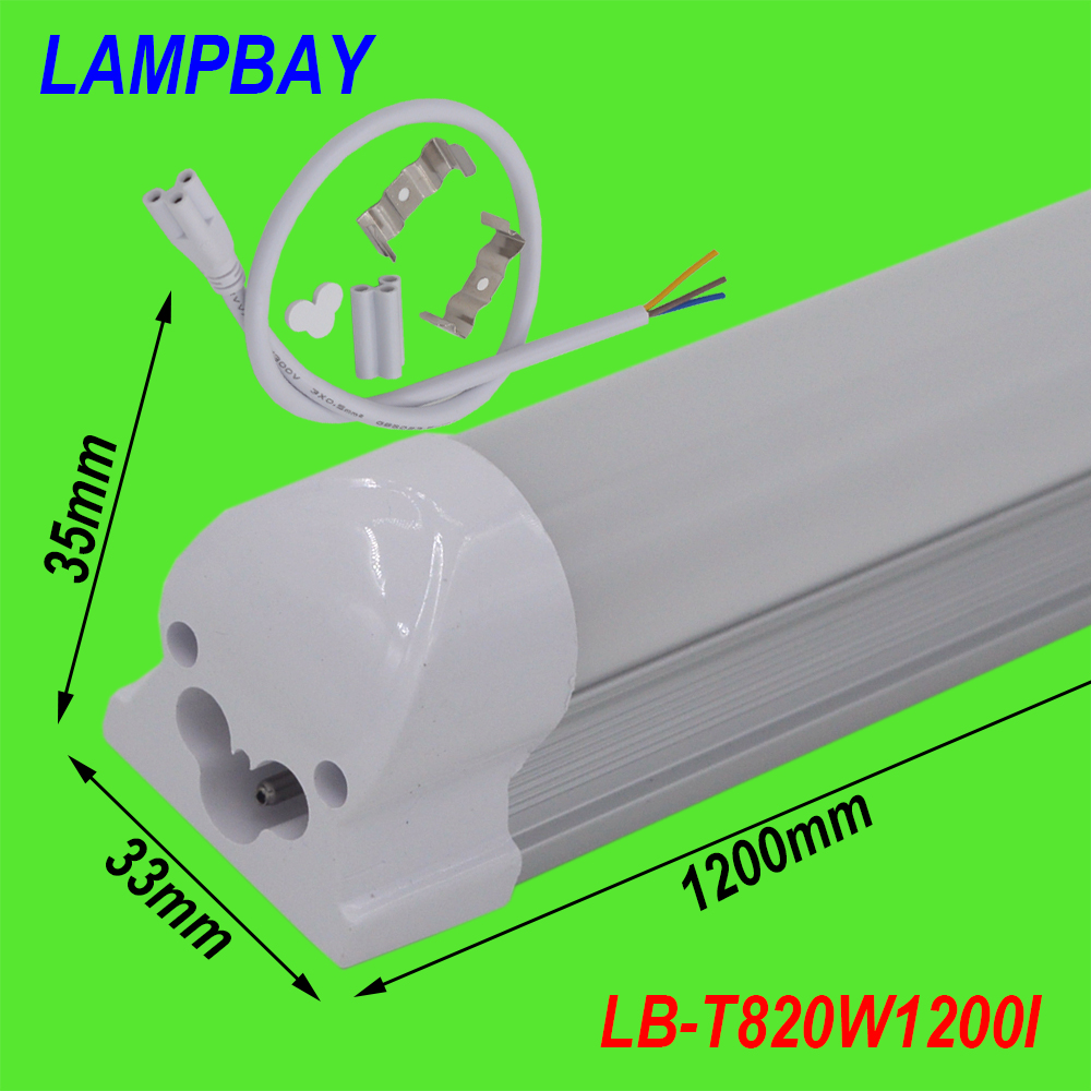 (4 Pack) Free Shipping LED Tube Lights T8 Integrated Bulb with Fixture F48 4ft. (1.2m) 20W surface mounted lighting bar 85-277V 4 pack free shipping t5 integrated led tube 4ft 20w milky transparent cover surface mounted bulb comes with accessory 85 277v