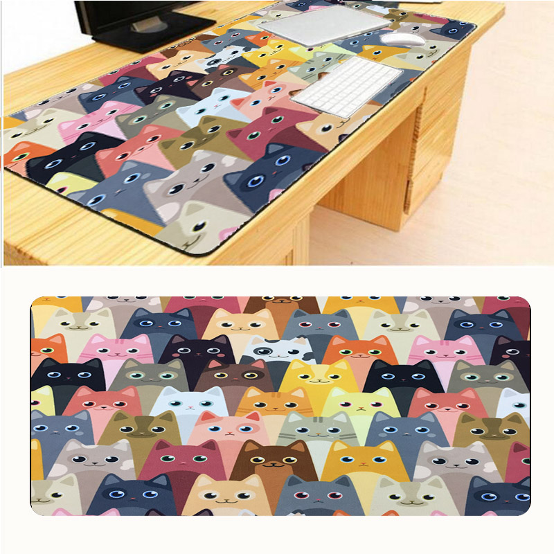 Mairuige Cat Face New Arrival Locking Edge Control Gaming Surface Mouse Pad Computer Notebook Mice Mat Gaming Optical Mice Mats