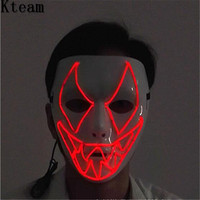 Cadılar bayramı Hoilday Cosplay Maske hip hop Adam Maske Ile Led işık Çocuk Festivali Dans Adam Masquerade Partisi için maske kırmızı renk