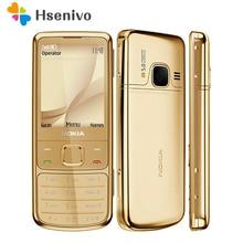 Восстановленное Nokia 6700c мобильный телефон 6700 Classic Мобильный телефон Золото 3G GSM & русская клавиатура