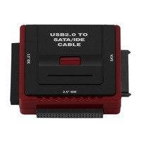 Kare Docking Istasyonu Baz Çok Fonksiyonlu USB 2.0 2.5/3.5 Inç SATA IDE HDD, CD-Rom HDD Dock İstasyonu ABD Fiş