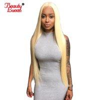 #613 Blonde Wig Lace Front Human Hair Wigs 150% Density Brazilian Remy Straight Hair Lace Pure Blonde Wig Beauty Lueen