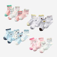 5Pairs/lot Newbornt Baby Socks Summer Mesh Thin for Girls CottonInfan Boy Toddler Clothes Accessories