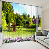 Top Quality 3d curtains Custom 3D Photo 2016 Fashion 3D Home Decor Beautiful scenery Curtain window room
