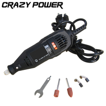 CRAZY POWER Mini Drill Grinder DIY Electric Hand Drill Machine with Accessories Variable Speed Dremel Rotary