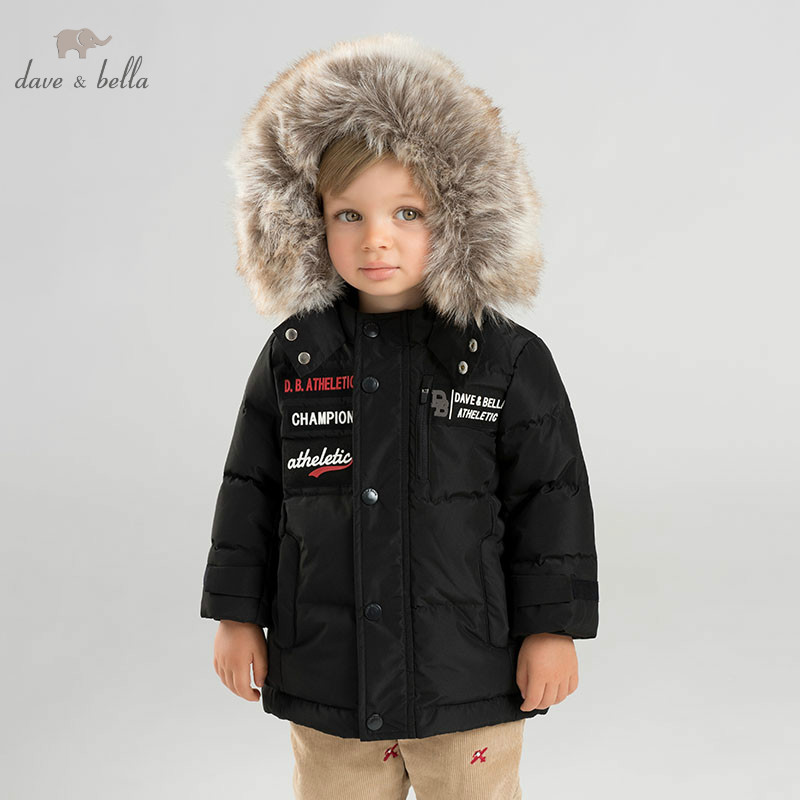 DB8823 dave bella baby boy down jacket children hooded outerwear infant toddler boutique 90% duck down padded coat with big fur db8695 dave bella baby boy down jacket children hooded outerwear infant toddler boutique 90