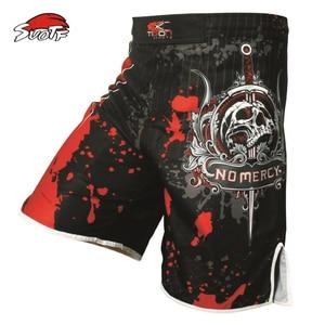 SUOTF Pro MMA Fight MMA short shorts Muay Thai kick boxing gel cage pants pants Sanda boxing sport pants M-XXXL(China)