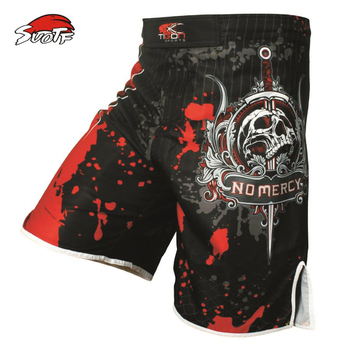SUOTF Pro MMA Fight MMA short shorts Muay Thai kick boxing gel cage pants pants Sanda boxing sport pants M-XXXL wesing mma trunks muay thai boxing short pants sport cool spider pattern kick boxing sport fitness training shorts