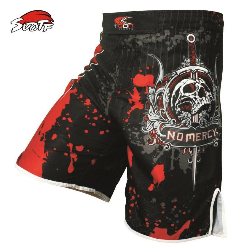 SUOTF Pro MMA Lutte MMA short Muay Thai kick de boxe gel cage pantalon pantalon Sanda de boxe pantalons de sport M-XXXL