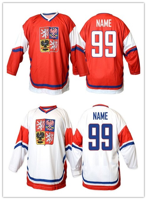 ec741e56314 Team Czech republic  68 Jaromir Jagr 14 TOMAS PLEKANEC Hockey Jersey  Embroidery Stitched Customize any number and name Jerseys.