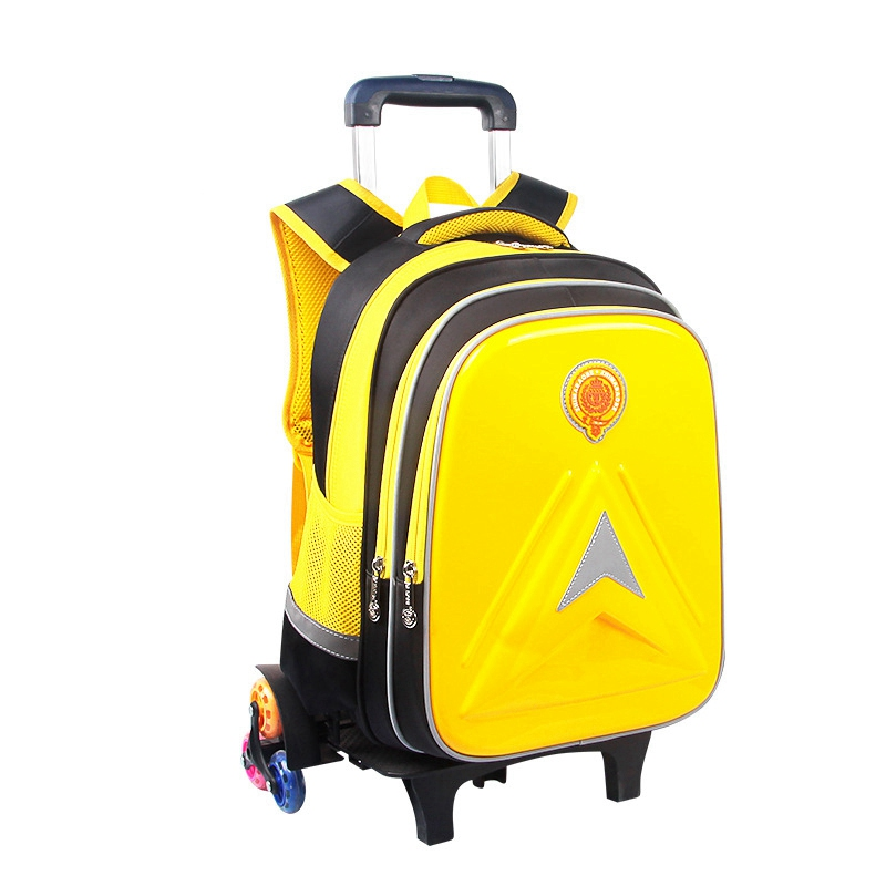 Children Wheeled Backpack Removable Children School Bags with Wheels School Bags for Children Kids Boys Girls Trolley Schoolbags ...