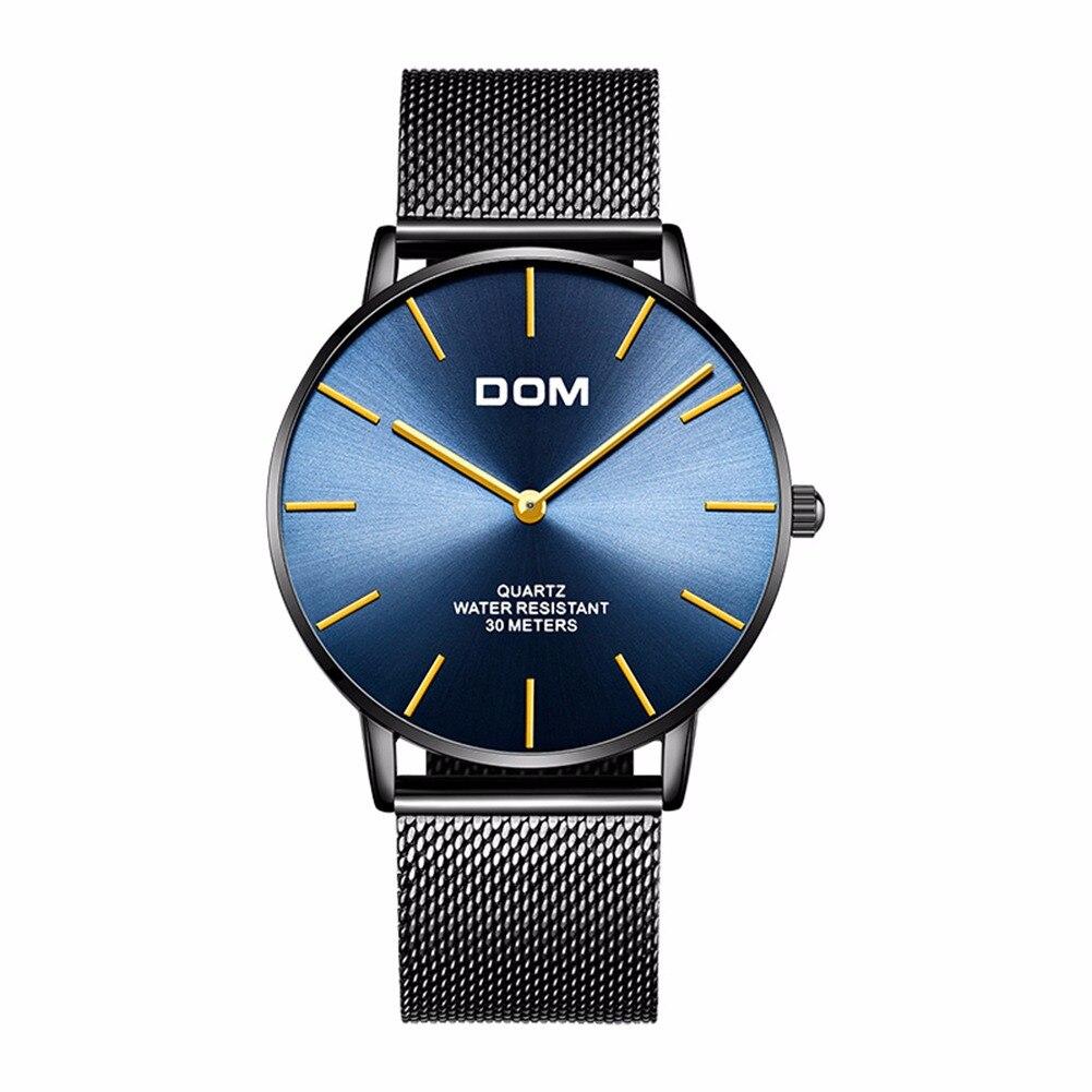 ea464926fa75 Ver hombres DOM superior de la marca de lujo de cuarzo reloj Casual de cuarzo  correa