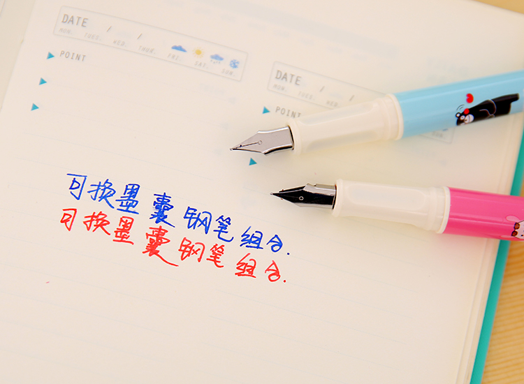 10pcs COLOR Blue or Black or red or green 3 4mm fountain pen Ink Cartridges in Fountain Pens from Office School Supplies