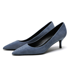 New Women Top Quality Genuine Kid Suede Leather Classic Design Fashion Pumps Concise Casual Shoes Woman Spring  E0066
