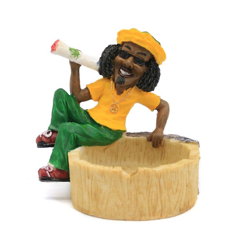 E.K.J XH Série Résine Cendrier Différents Jamaïque Style à Choisir Cigarette Cadeau de Fumer Accessoires Creative Fantaisie Cendrier