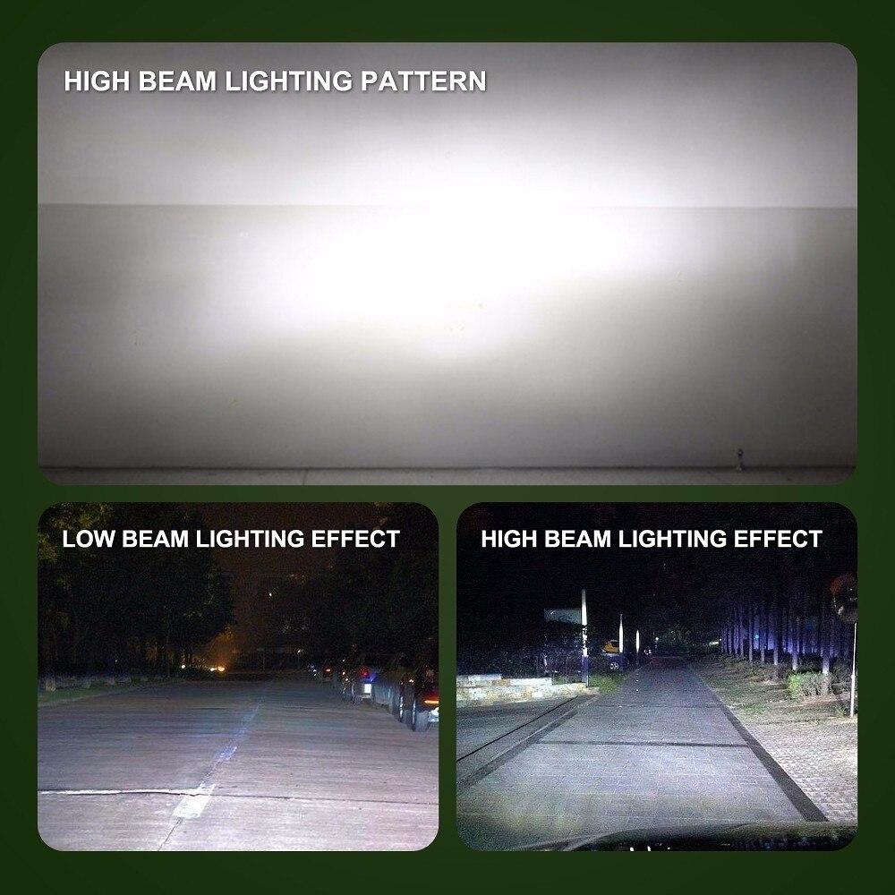 LVTUSI 2 ADET Süper Parlak H7 LED H4 H11 Araba Işıkları H1 H3 Oto - Araba Farları - Fotoğraf 6
