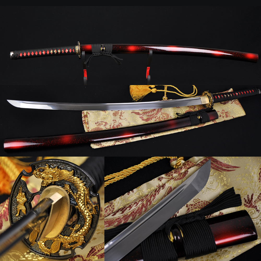 정품 일본 사무라이 전투 Katana 실제 칼 홈 장식 탄소 스틸 손 단조 샤프 블레이드 사용자 정의 Katanas 전투 준비