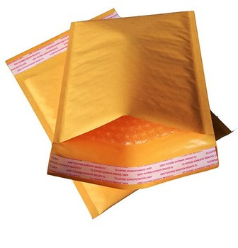 1PCS Yellow Waterproof Envelope Bubble Packaging Mailing Bags 160X220MM image
