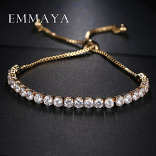 Emmaya Classic Bling Crystal Beads Friendship Bracelet White Zircon Adjustable Bracelets for Women Beaded Cheap Bracelet(China)
