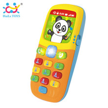 HUILE TOYS 956 Baby Toys Cellphone Mobile Phone Early Educational Learning Machine Electric Phone Model Machine Toy for Children