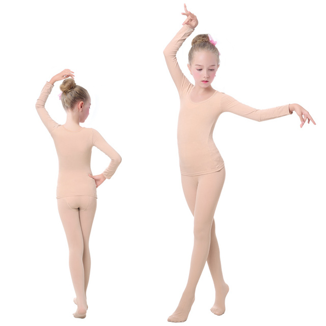 e47a46833b35 Aliexpress.com   Buy Girls Kids Ballet Underwear Suit Nude Leotards ...