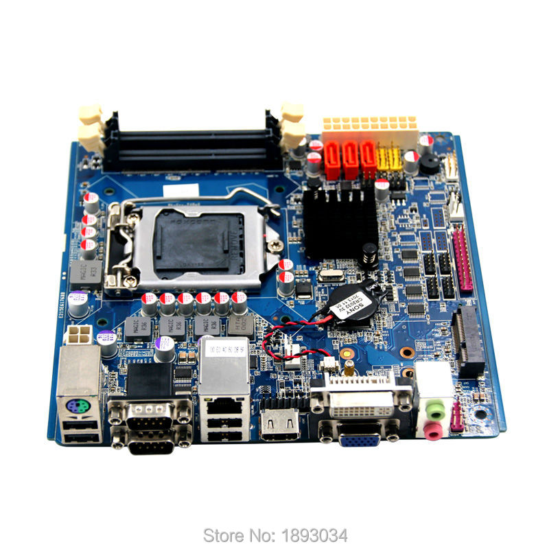 Mini-Itx Motherboard with H61, LGA1155, 1*VGA, 1*DVI, 3*SATA lga1155 cpu motherboard with intel h61 chipset 3 sata 2 0