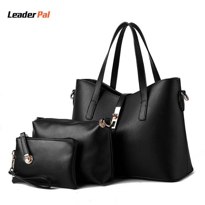 Подробнее о Leaderpal Women Pu Leather Composite Bags Handbag+Messenger Bag+Purse 3Sets Ladies Casual Vintege Noble crossbody Shoulder Bags women handbags 3 sets pu leather handbag women messenger bags ladies tote bag handbag shoulder bag purse pay one get three