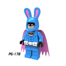 PG178 Single Sale Super Heroes Easter Bunny Batman with Purple Cape Bricks Model Building Blocks Best Children Gift Toys PG8047(China)