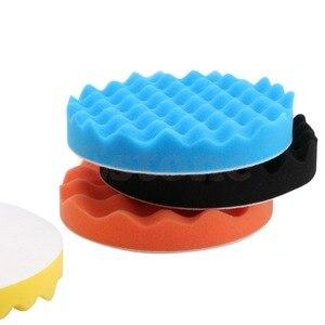 Image 4 - 새로운 4 개/대 6 인치 (150mm) 버핑 연마 스폰지 패드 키트 자동차 폴리 셔 버퍼