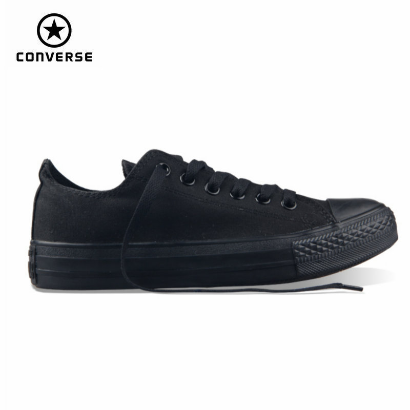 13344305dbc classic Original Converse all star men and women sneakers canvas shoes all  black and beige low