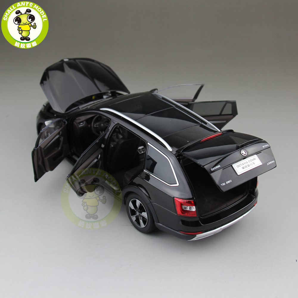 1/18 VW Skoda Octavia Combi Wagon metalowy samochodzik ze stopu modelu zabawki chłopiec dziewczyna prezent brązowy w Odlewane i zabawkowe pojazdy od Zabawki i hobby na  Grupa 3