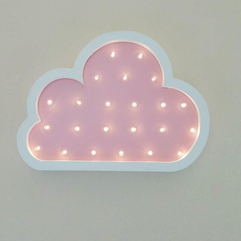 Cloud Led Night Light Wooden for Baby Children Kids Gift Table Lamp ...