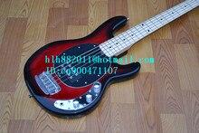Neue 5-Strings E-Bass Mitte in rot mit Chrome Hardware + Schaumkasten + freies Verschiffen F1054