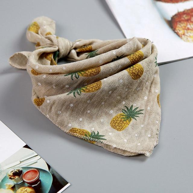 Baby Infants Newborn Soft Cartoon Pineapple Print Feeding Bibs Saliva Towel Fruit Print baby bandana bibs dribble bibs