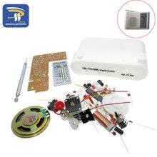 CF210SP AM/FM Stereo zestaw radia DIY elektroniczny zestaw montażowy zestaw przenośne do Radio FM AM DIY części dla uczących się
