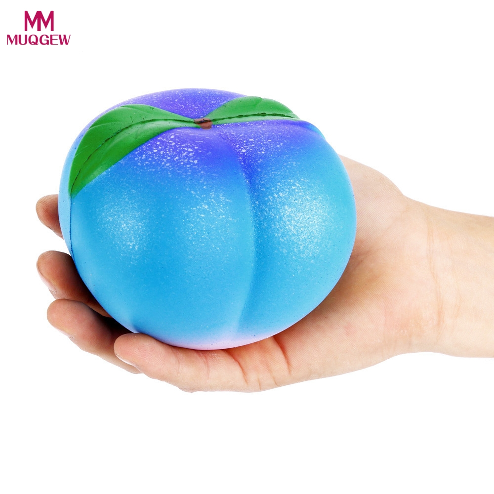 Toys Soft Squishy Artificial Galaxy peach Fruit Toy Slow Rising for Children Adults Relieves Stress Anxiety Cabinet Decoration