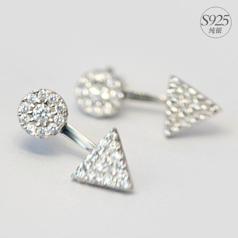 925 ασημένια σκουλαρίκια Λευκό CZ - Κοσμήματα - Φωτογραφία 1