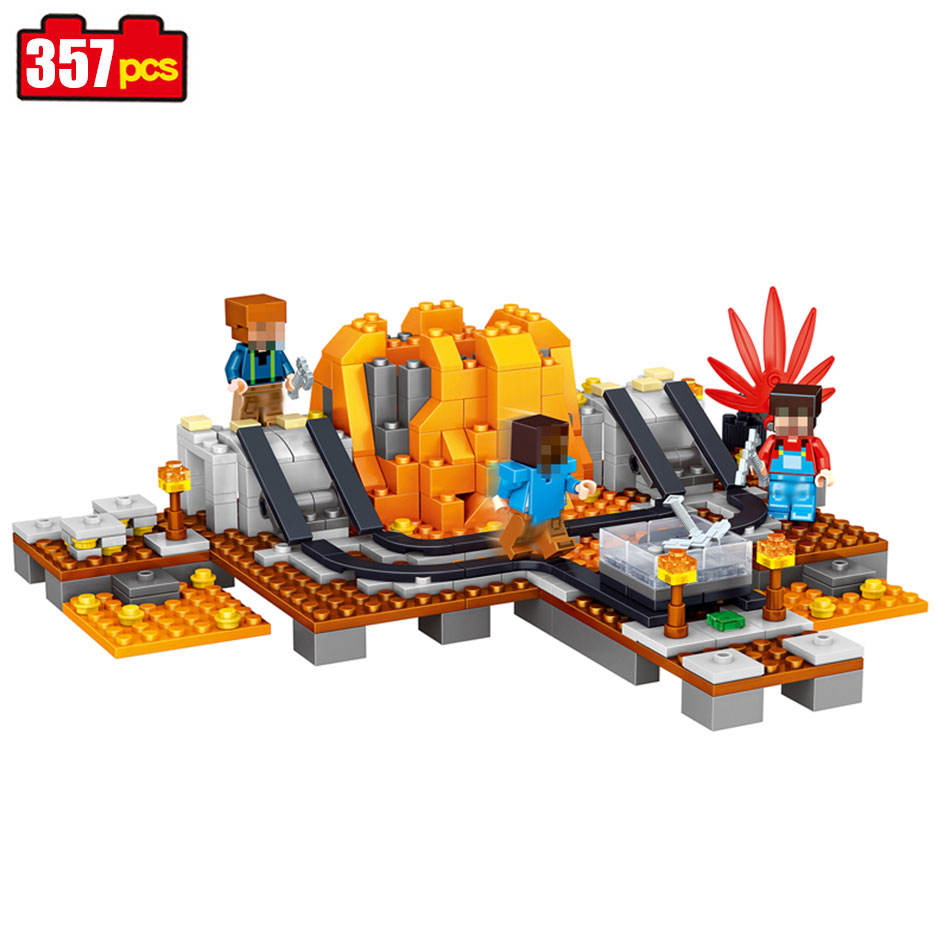 357pcs My Village My World Compatible Legoed Minecrafted Building Blocks Bricks Toy model building toys hobbies for children 521 592pcs new technic 3in1 my world building blocks sets mountain hut compatible legoinglys minecrafter toys for children