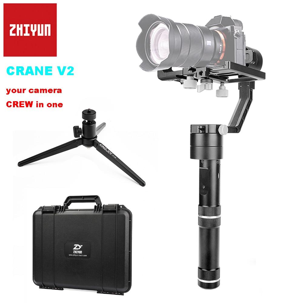 Zhiyun Crane V2 3 eje Brushless Handle Gimbal estabilizador para cámara Sony carga útil 350g-1800g + trípode de mesa PK Zhiyun Crane M