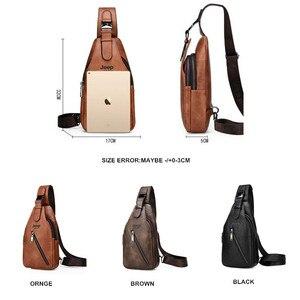 Image 2 - JEEP BULUO seyahat yürüyüş çapraz vücut postacı çantası erkek büyük kapasiteli göğüs tek kollu çanta katı erkekler bölünmüş deri çanta yeni